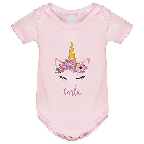 Body bebé manga corta Unicornio personalizado, Regalo único y original para niños y niñas, unisex bodies algodón en tres colores: Amazon.es: Handmade