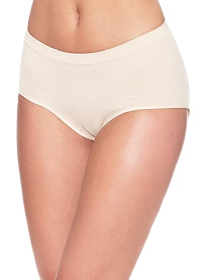 e608539916 Control Body Womens Shaping Brief Shapewear with Microfibre   Silicone Waist