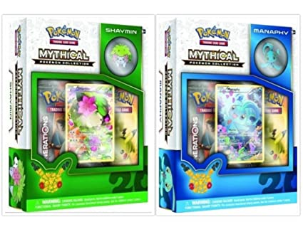 Amazon.com: Pokemon TCG Manaphy y shaymin mítico Collection ...