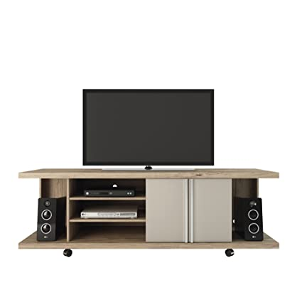 Manhattan Comfort Carnegie Collection Flat Screen TV Stand With Storage  Compartments, 71u0026quot; L X