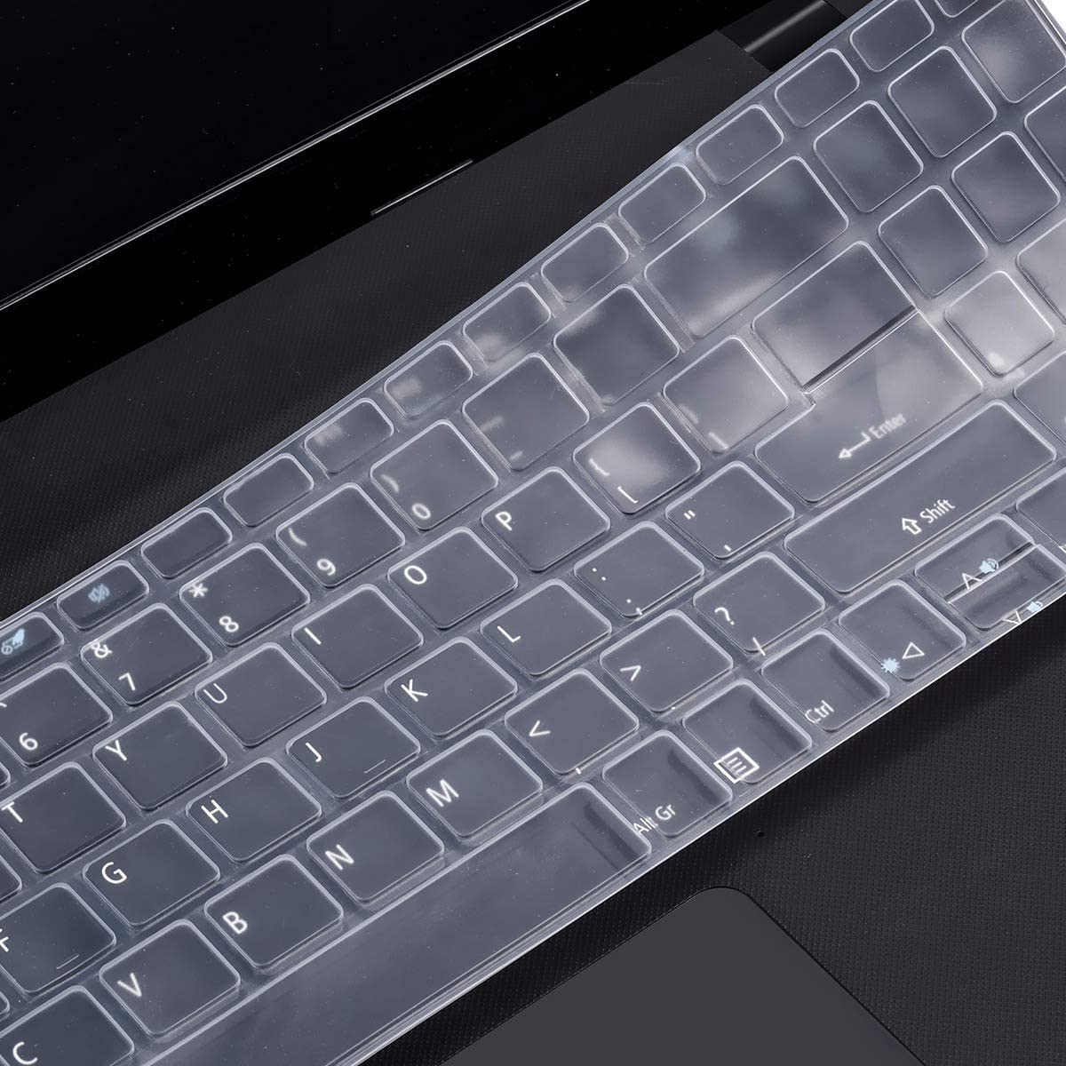 Clear Silicone Keyboard Cover Skin for Acer Aspire 5 Slim Laptop A515-43 A515-54 A515-54G 15.6 Inch, Acer Swift 3 SF315 Protector, Acer Aspire 5 Accessories