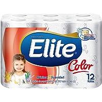 Elite Color Papel Higiénico Doble Hoja 12 Rollos