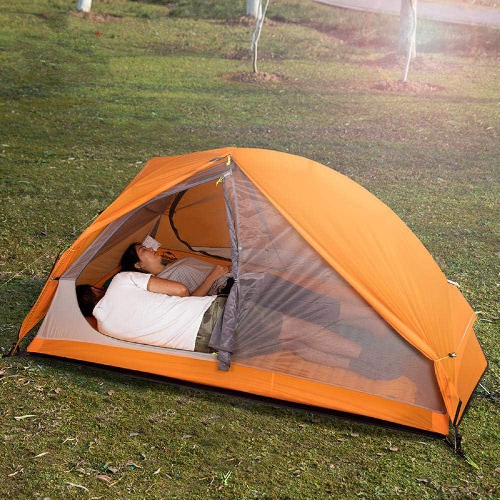 XTBB Tente de Camping d'été Vélo Tentes Simples Étanche 1 2 Personne Randonnée Trekking Montagne Pu4000 Tente de Camping Ultralight 210Tred1P 20dorange2p2doors