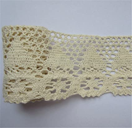 3 metros de cinta de borde de encaje de Crochet de algodón. 6,5