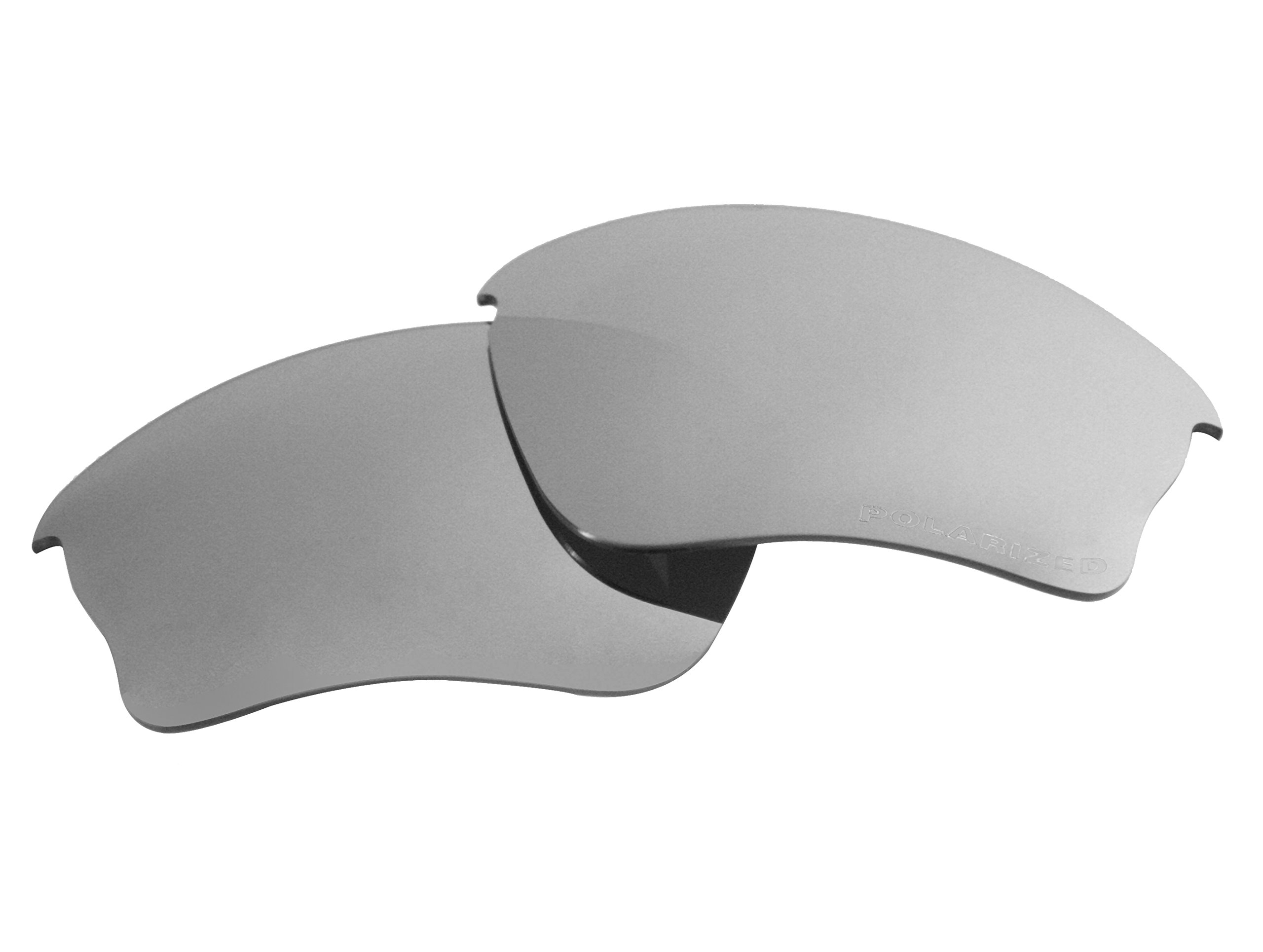 Polarized Replacement Sunglasses Lenses for Oakley Half Jacket XLJ with UV Protection(Titanium Mirror) by C.D