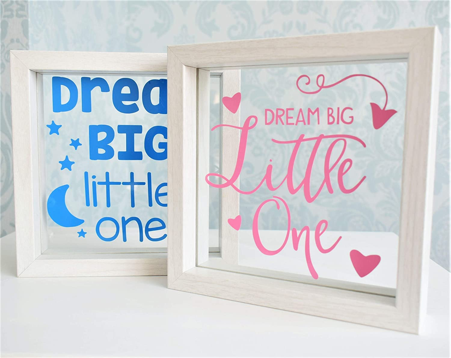 Dream Big Little One. Personalised Colours Floating Frame. Baby ...