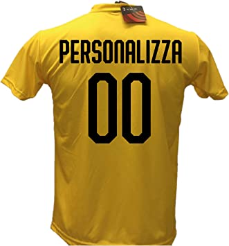 Camiseta de fútbol portero Milan personalizable 2018-2019 tallas de niño y adulto. Personaliza con tu nombre o tu jugador favorito., Negro , 8 años: Amazon.es: Deportes y aire libre