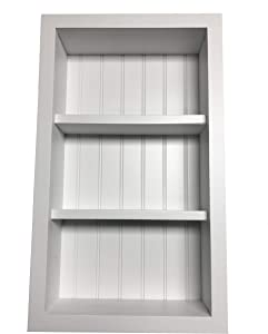 KHS White Recessed Wall Shelf Cabinet (Medicine Cabinet with no Doors) in-Wall Decor