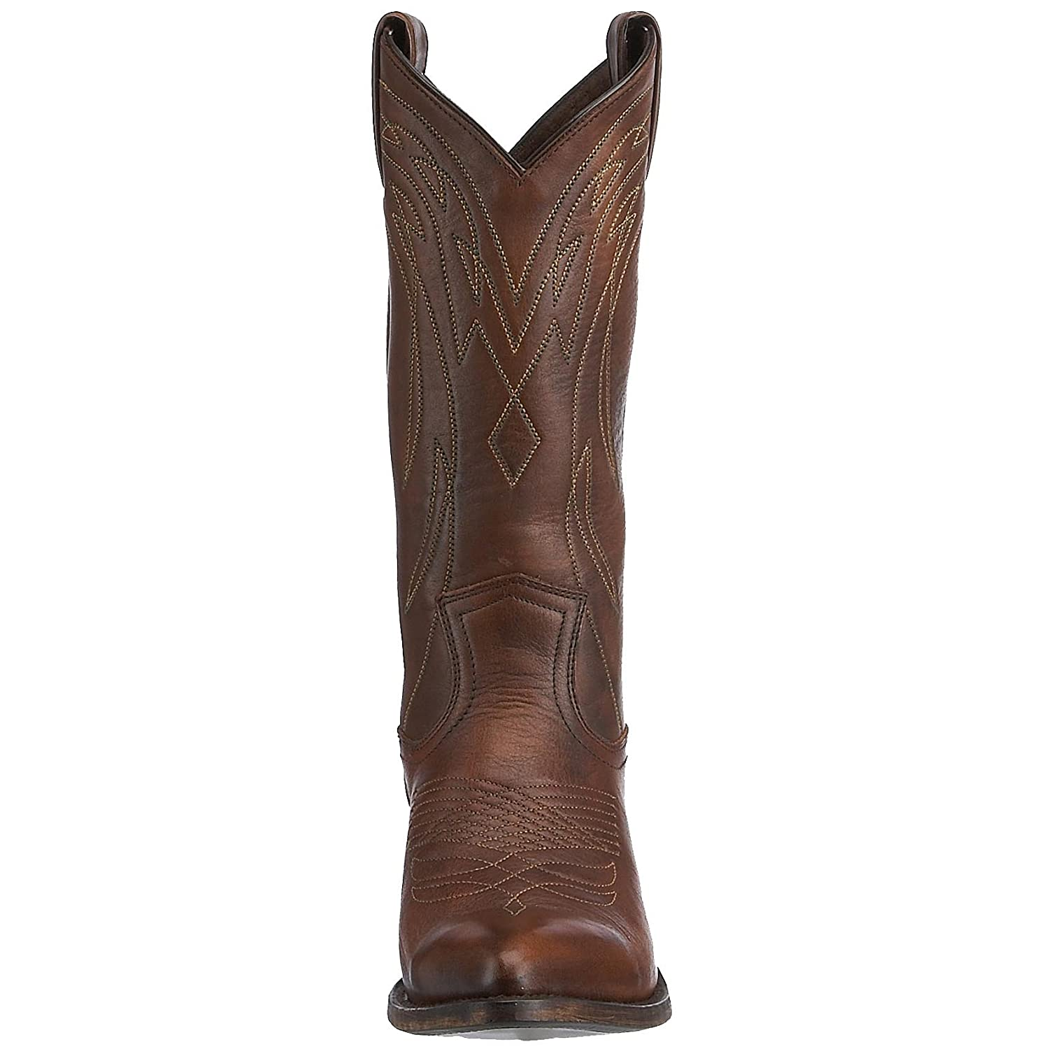 FRYE Women's Billy Pull-On Boot B001BK4OUU 6.5 B(M) US|Dark Brown Vintage Calf Shine-77689