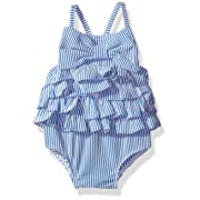 Mud Pie Baby Girls' Swimsuit One Piece, Ruffle, 0-6 Months