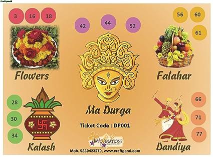 Craftgami - Durga Puja Theme Tambola Tickets - Housie Tickets (24 Tickets)