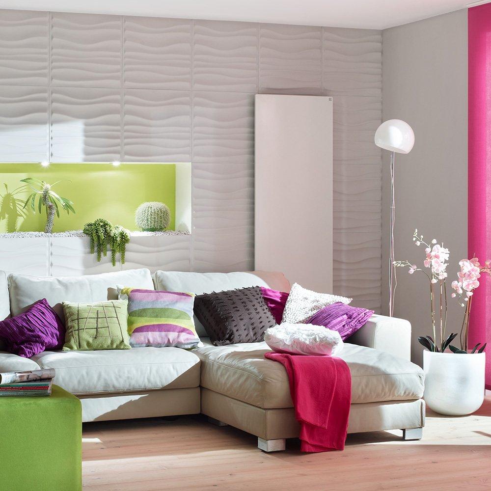 3d Panneaux Muraux Kalle D Coration Murale Plaquette De  # Decoration Murale Sans Peinture Television Design