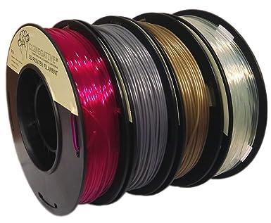 Pla 1,75 mm 4 x 250 g bronce/acero/morado/Transparente – Filamento ...