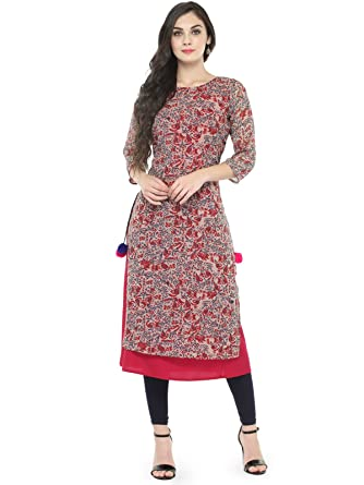 Azira Double Layered Pink Georgette Kurta  Amazon.in  Clothing ... 2f58444f1