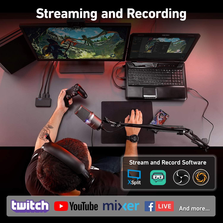 AVerMedia Live Streamer 311 61BO311000AE, Pack Todo en Uno, Capturadora de Vídeo, Micrófono, Cámara web, Plug and play, Transmisión, Juego: Amazon.es: Electrónica
