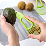 3 in 1 Avocado Slicer and Pitter Tool by Vigor Laser, Multi-function - Avocado Peeler Cutter Masher and Skinner for Kitchen to Slicer and Scoop Avocados - Avocado Tool Kitchen, Green