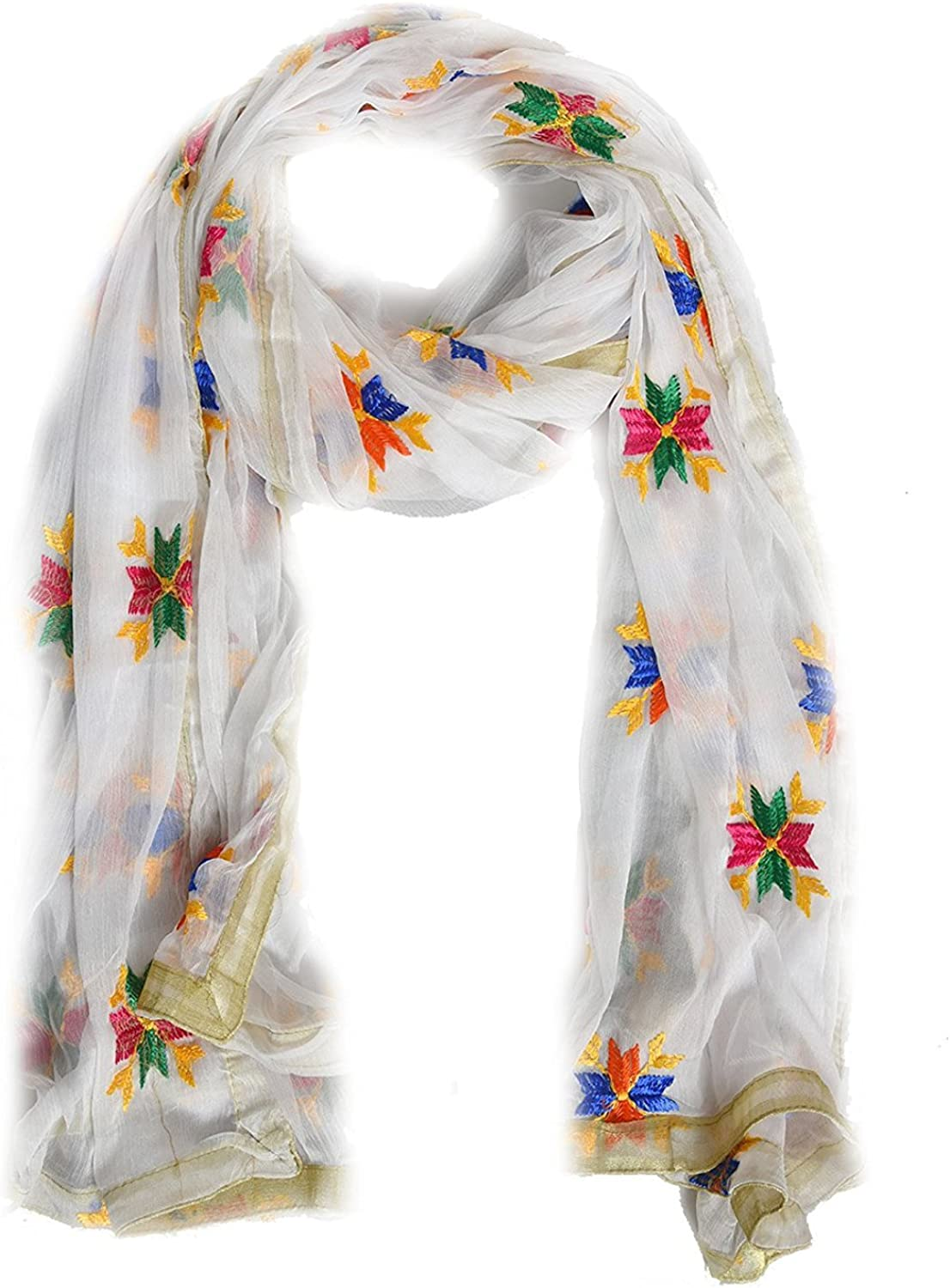 Embroidered Pulkari Scarf// Dupatta