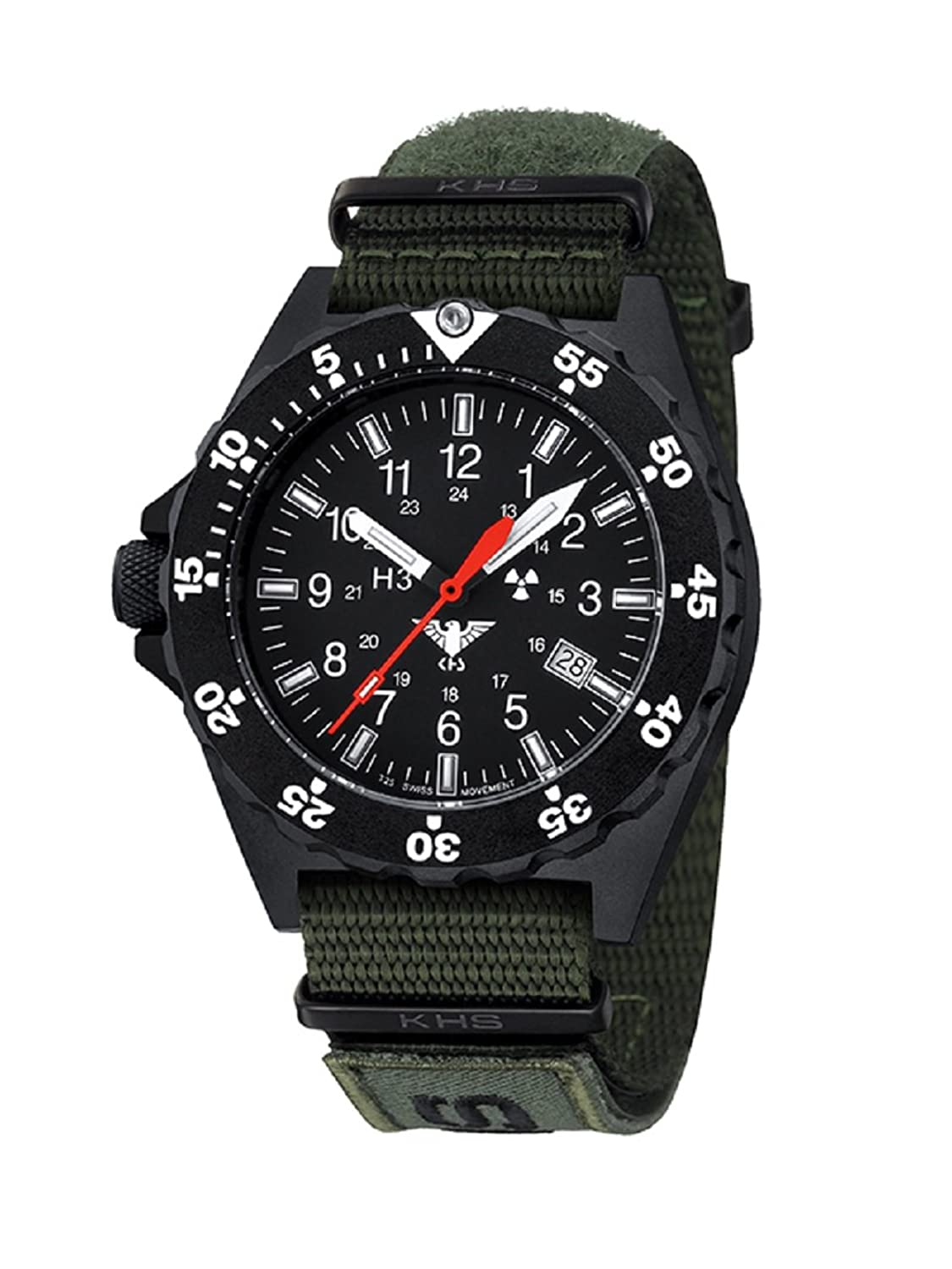 KHS Shooter KHS.SH.NXTO1 Natoband oliv inkl. Watch-Glass-Protection Schutzfolie