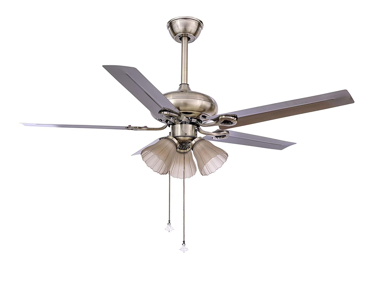 Buy Hans Lighting 5 Metal Blade Ceiling Fan With Light 48 Inches Online At Low Prices In India Amazon In