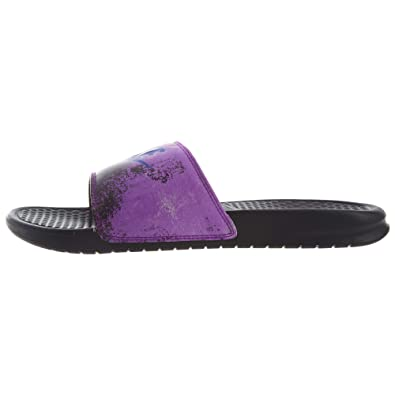 premium selection 53f68 74490 Nike Men's Benassi JDI Print Black/Racer Blue Vivid Purple (9, Black/Racer  Blue-Vivid Purple)