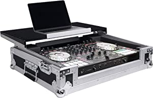 Sound Town DJ Controller Road Case w/Sliding Laptop Stand, Fits Pioneer DDJ-SR2 (STRC-SRLT)