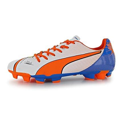 744eb6bdb PUMA Evopower Pop 4 FG Firm Ground Football Boots Mens White ORN Soccer  Cleats (