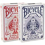 2 Decks Bicycle Cyclist Blue and Red Poker Playing Cards