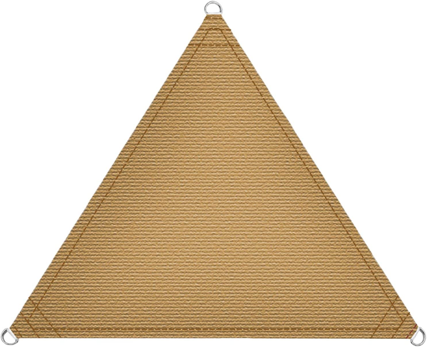 LOVE STORY 12' x 12' x 12' Triangle Straight Sides Sand Sun Shade Sail Canopy UV Block Awning for Outdoor Patio Garden Backyard