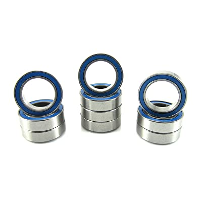 10x15x4mm Precision Ball Bearings ABEC 3 Rubber Seals (10) 6700-2RS-BU: Toys & Games