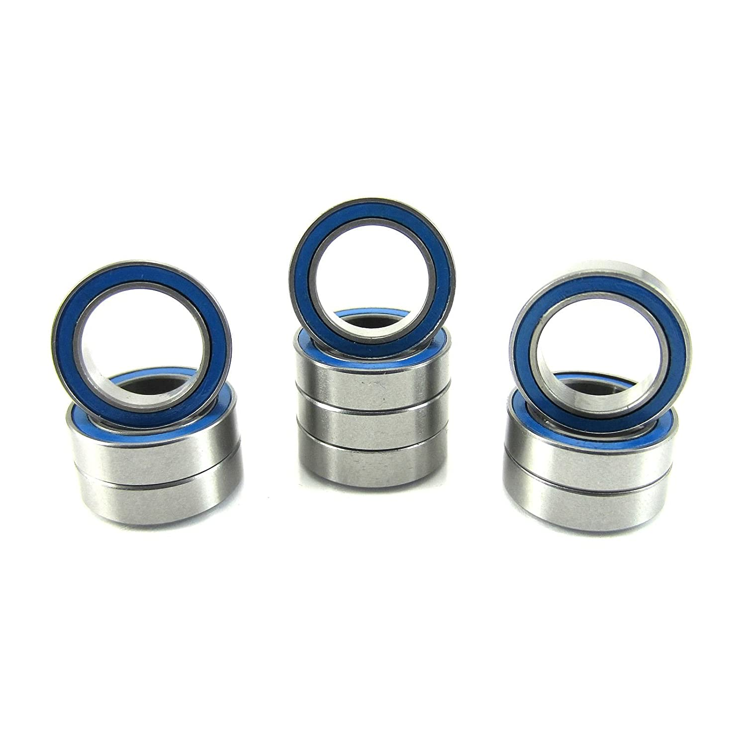10x15x4mm Precision Ball Bearings ABEC 3 Rubber Seals (10) 6700-2RS-BU