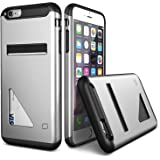 iPhone6s Plus / iPhone6 Plus ケース カード収納 Lific Mighty Card Defense 背面 カード ケース 耐衝撃 二重構造 衝撃吸収 カバー [ アイフォン 6s プラス / 6 プラス 専用 ] ライトシルバー