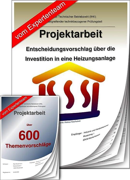 Technischer Betriebswirt Projektarbeit Präsentation Ihk