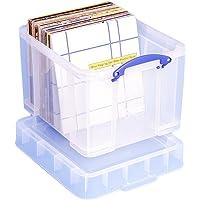 Really Useful Pudełko do Przechowywania, 35 litrów, XL, Przezroczyste