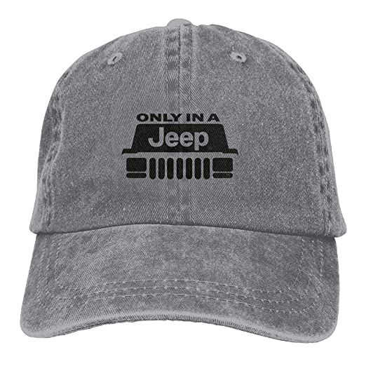 b071606e45b07 Amazon.com  Unisex Jeep Cherokee Xj Wrangler Wago Baseball Cap Cowboy Hat  Adjustable Snapback Adult  Clothing