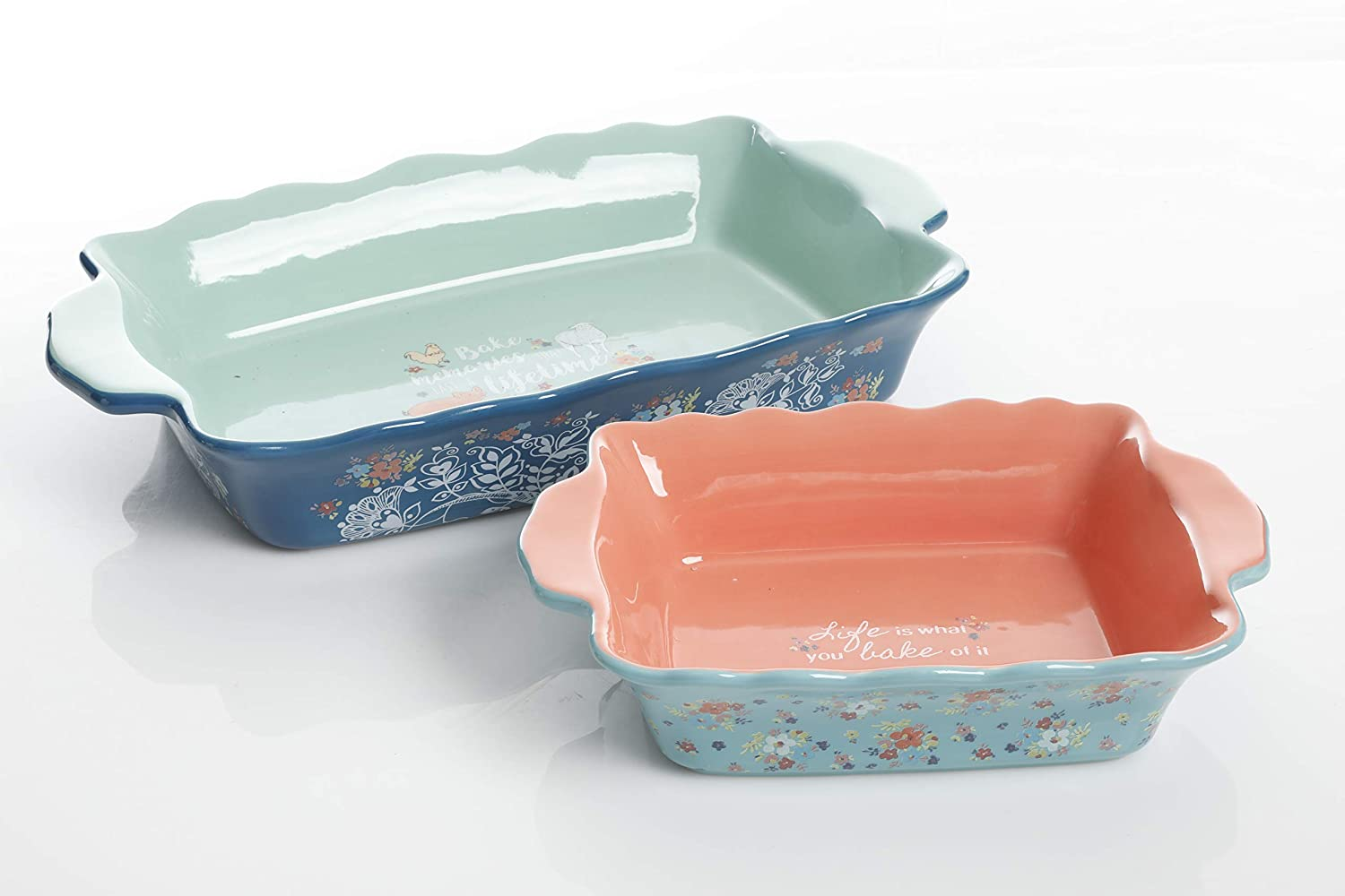 Urban Market by Gibson 99888.02RM Life on the Farm 2pc Set, 13', 10.75' bakeware, Assorted 13 10.75 bakeware Gibson Overseas