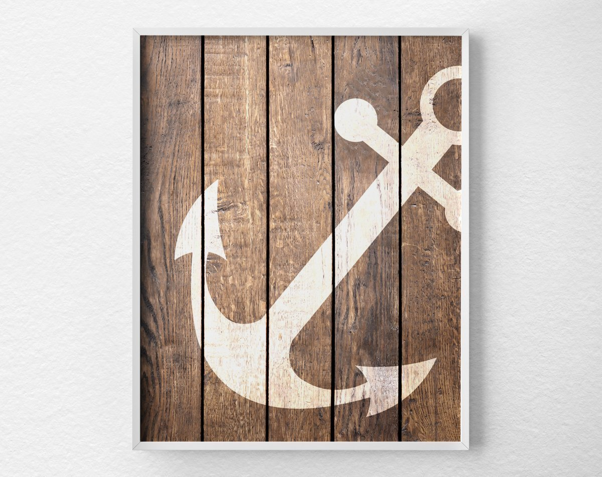 Nautical Decor Amazoncom Nautical Anchor Wall Art Print Poster Decor Nautical