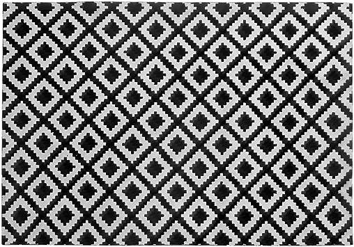 Mbd Nordic Geometric Black and White Floor mat Bedroom Bedside Bathroom Bathroom Door mat Kitchen Full Shop Long Foot pad Color : B, Size : 50120CM