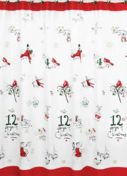Lenox American By Design 12 Days Of Christmas Shower Curtain 72quot