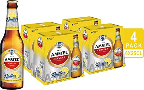Amstel Radler Limon Cerveza - 4 Packs de 6 Botellas x 250 ml ...