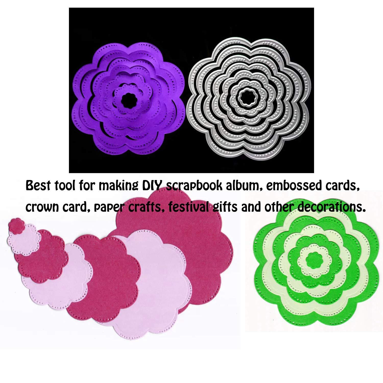 Flowers Metal Cutting Dies Stencil Scrapbooking Album Paper Craft Making Tool