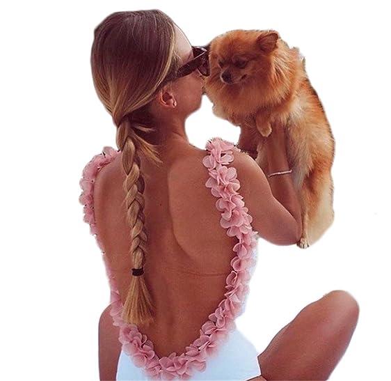 Eloise Isabel Fashion Patchwork Girassol Aberto Para Trás Sem Mangas Macacão Branco Mulheres Praia Verão Macacão