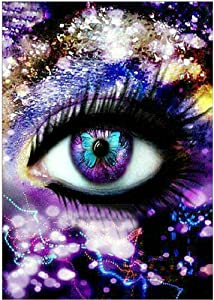 DIY 5D Diamond Painting, Beautiful Eyes, Complete Diamond, Diamond Painting Diamond Embroidery, Cross Stitch, handicrafts, Home Wall Decoration Gifts, 12x16 inches