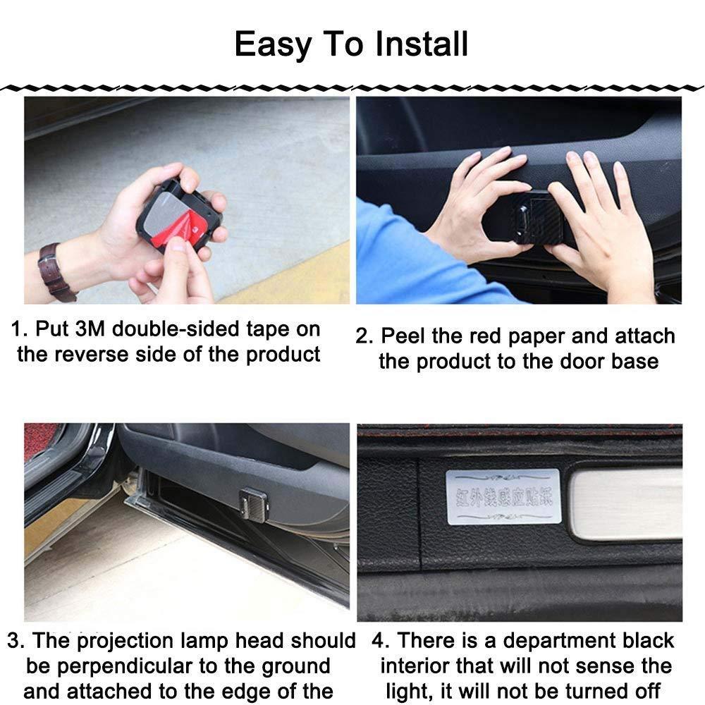 FFQZL Luce di Benvenuto per Auto LED Entry Illuminazione Migliorano La Sicurezza Luci Laterali 2 Confezioni per VW