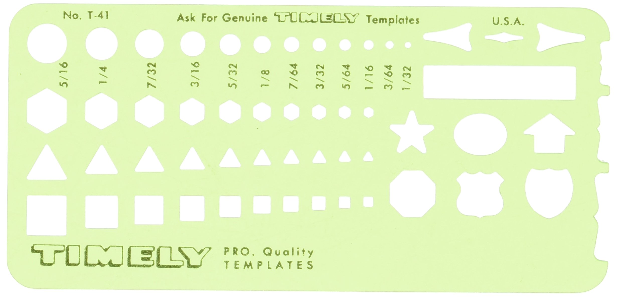 Timely - Small Shapes Template - 41T