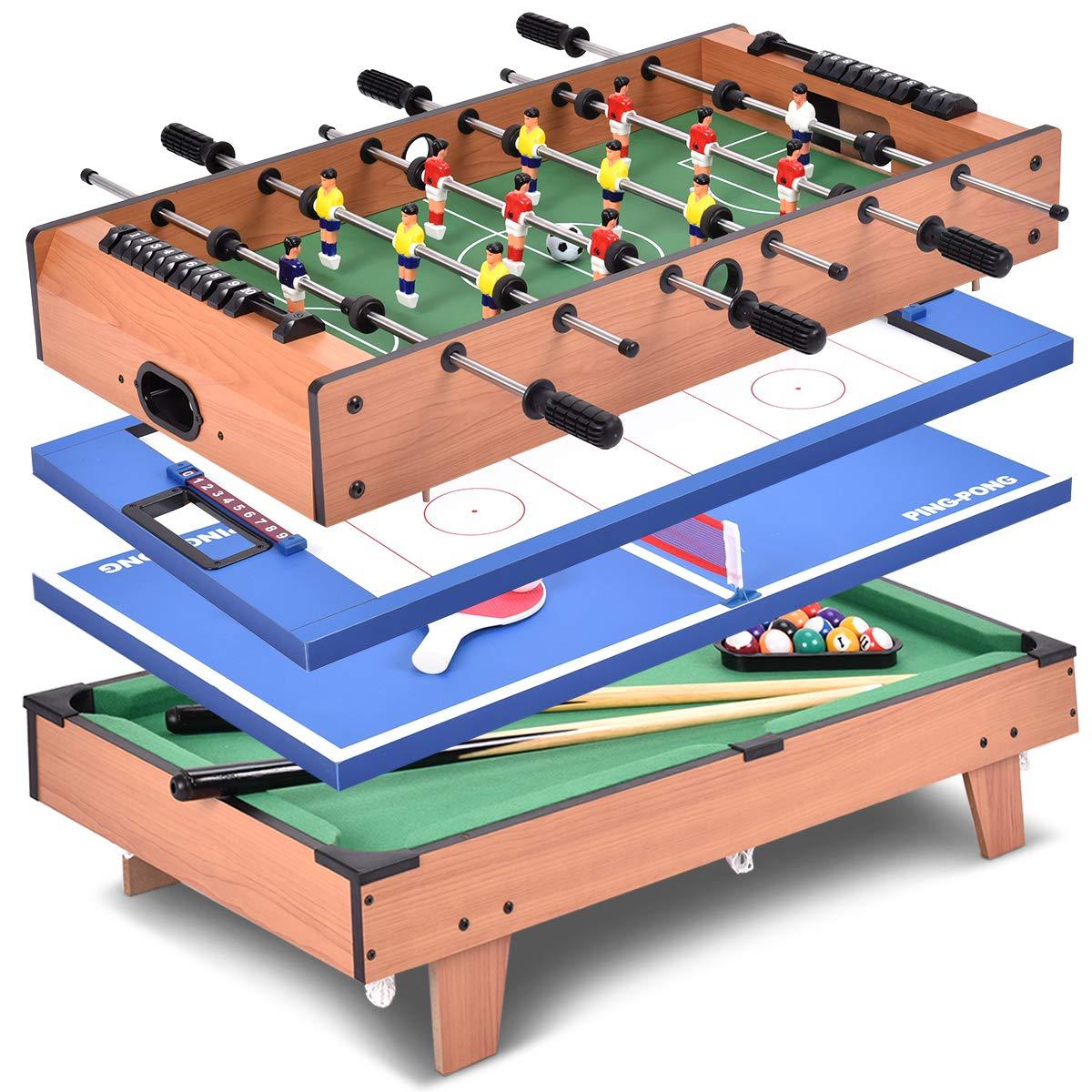 Giantex Multi Game Table Pool Hockey Foosball Table Tennis Billiard Combination Game Table (4 in 1) by Giantex