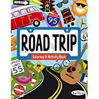 USA Road Trip Coloring & Activity Book for Kids: 30+ Pages of Coloring Activities and Games