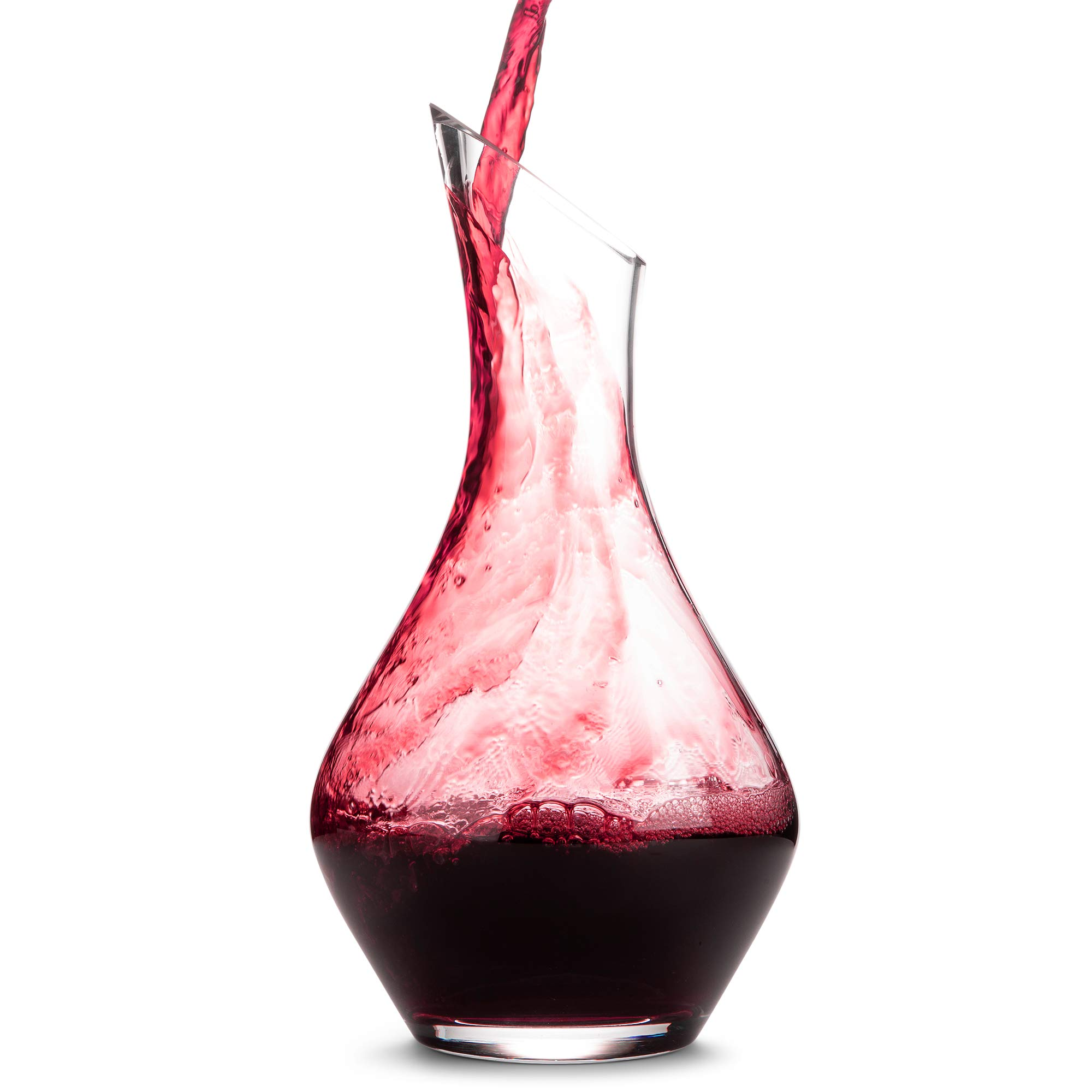 DIONARI Moderno Wine Decanter - 100% Lead-Free, Hand-Crafted Glass Decanter for Red Wine Aeration - Premium, Luxurious Aerator Carafe Gift Set for Wine Lovers - Elegant Wine and Drinking Accessories