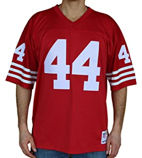 Mitchell   Ness Tom Rathman San Francisco 49ers Throwback Premier Red Jersey ea8b2a6ec