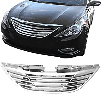 Amazon Com Grille Fits 2011 2014 Hyundai Sonata Horizontal Style
