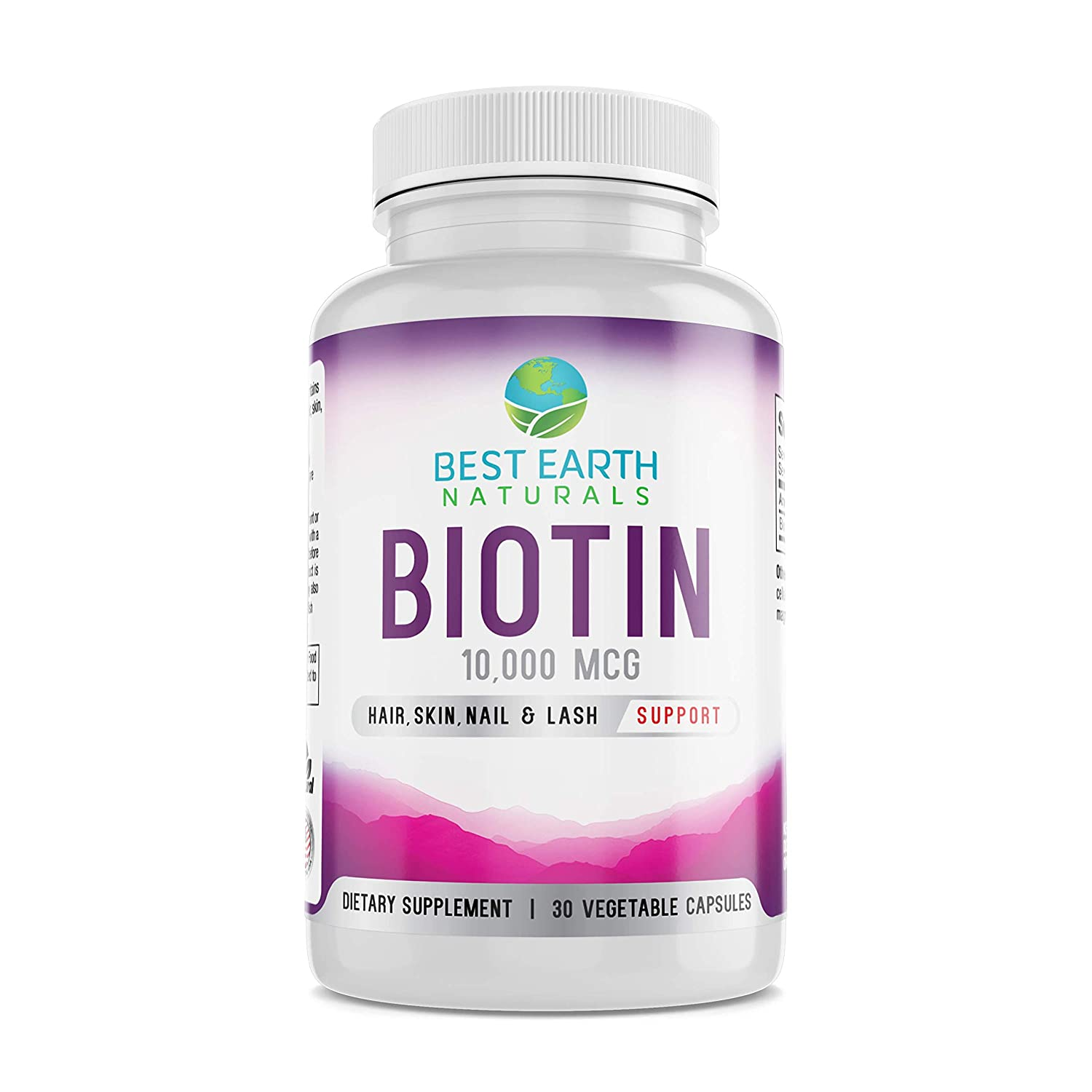 Biotin 10,000mcg - Extra Strength Biotin Vitamin Supplement for Hair Growth, Strong Nails, Longer Eye Lashes and Healthy Skin